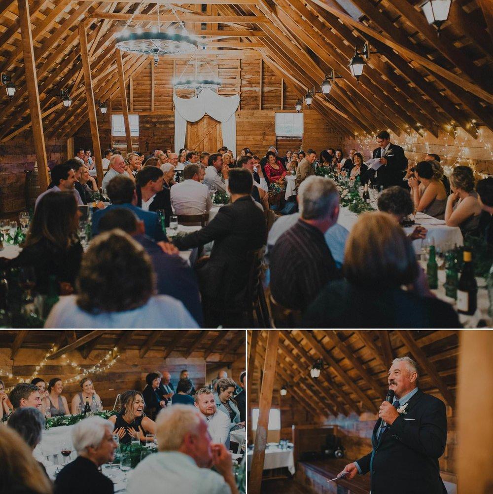 wedding reception at Tarureka Estate