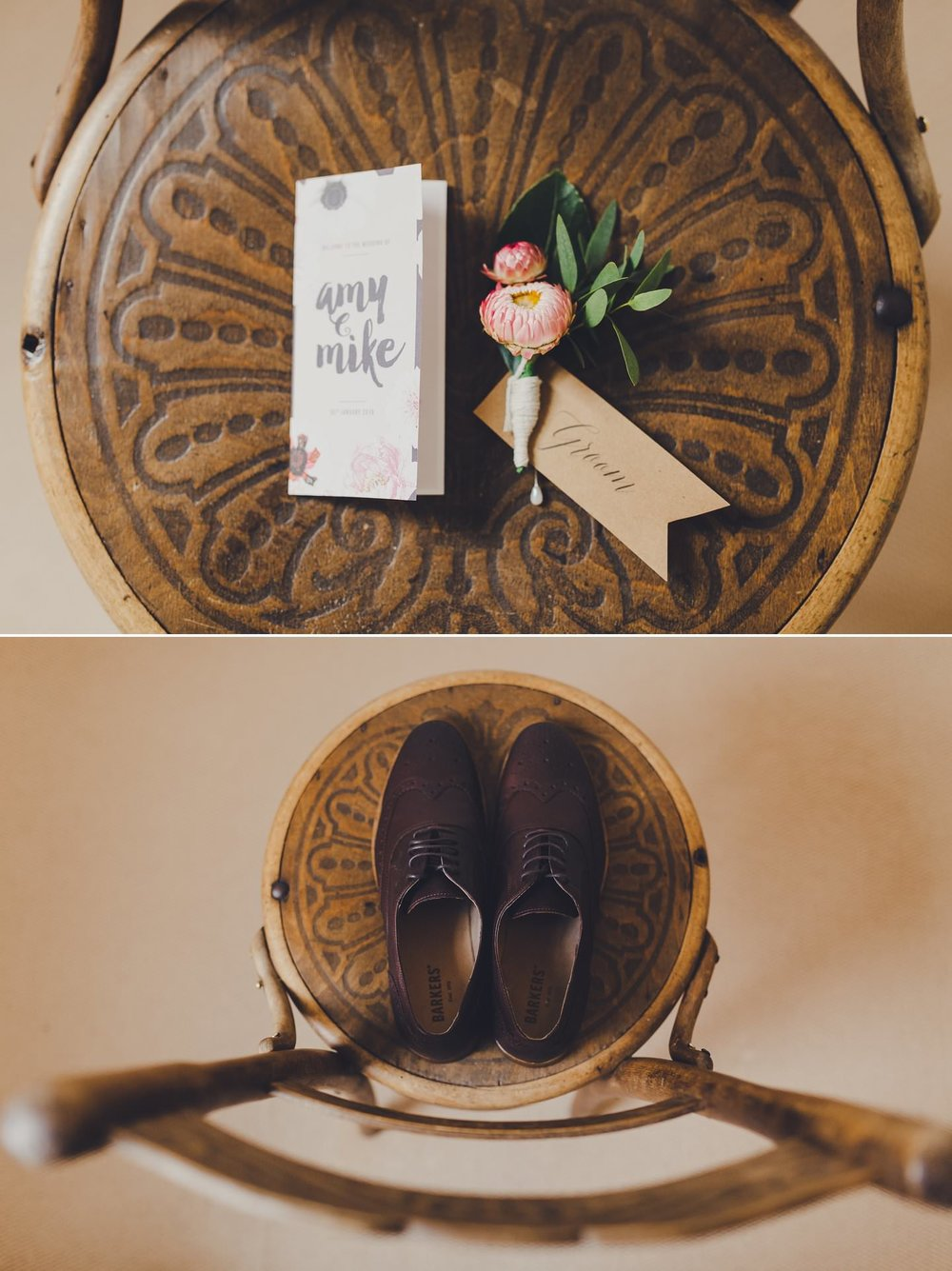Grooms wedding details. Invitation ideas. Button hole by twig and arrow florist