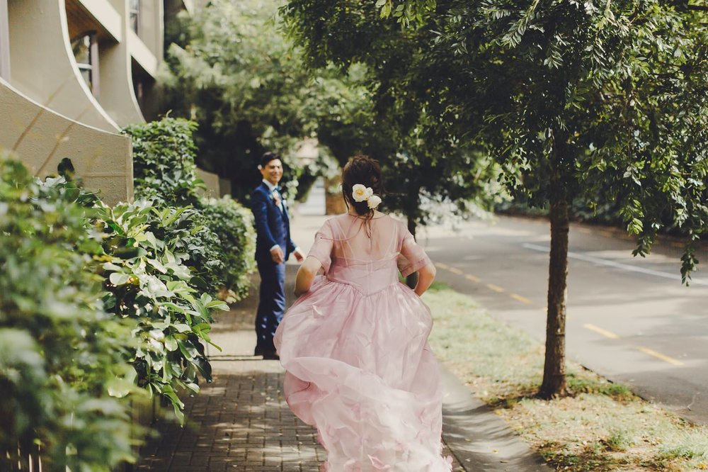 Modern city wedding