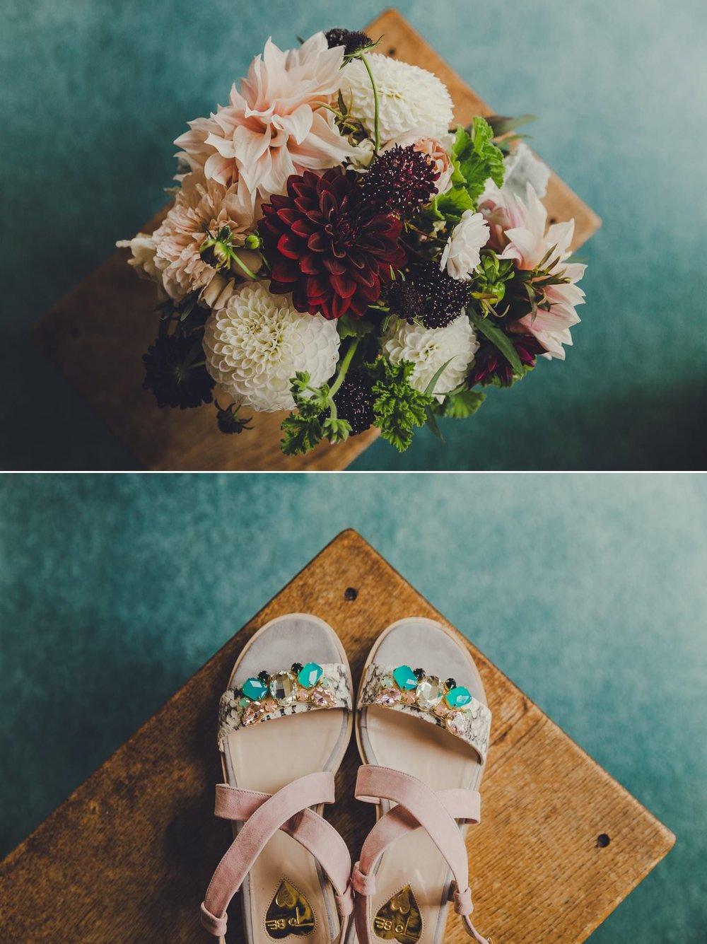 Brides details. Bridal bouquet by Twig and Arrow florist