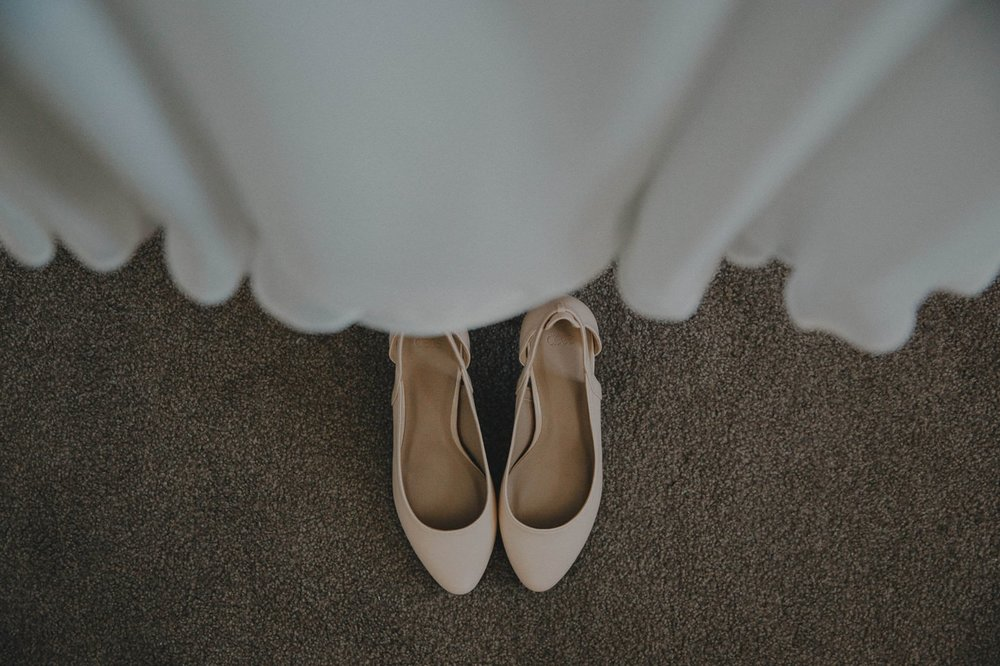 Bride details. Shoes from ASOS and Sally Eagle wedding dress
