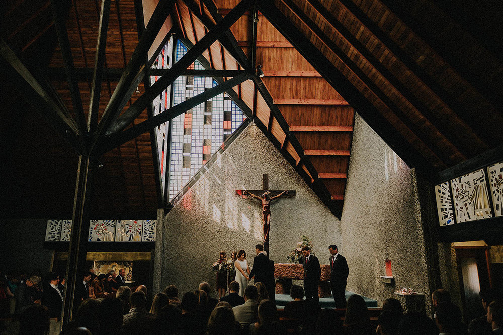 Wellington Wedding at Morning Golf Course Community Hall, and at Futuna Chapel. Modern wedding with black and gold theme.
