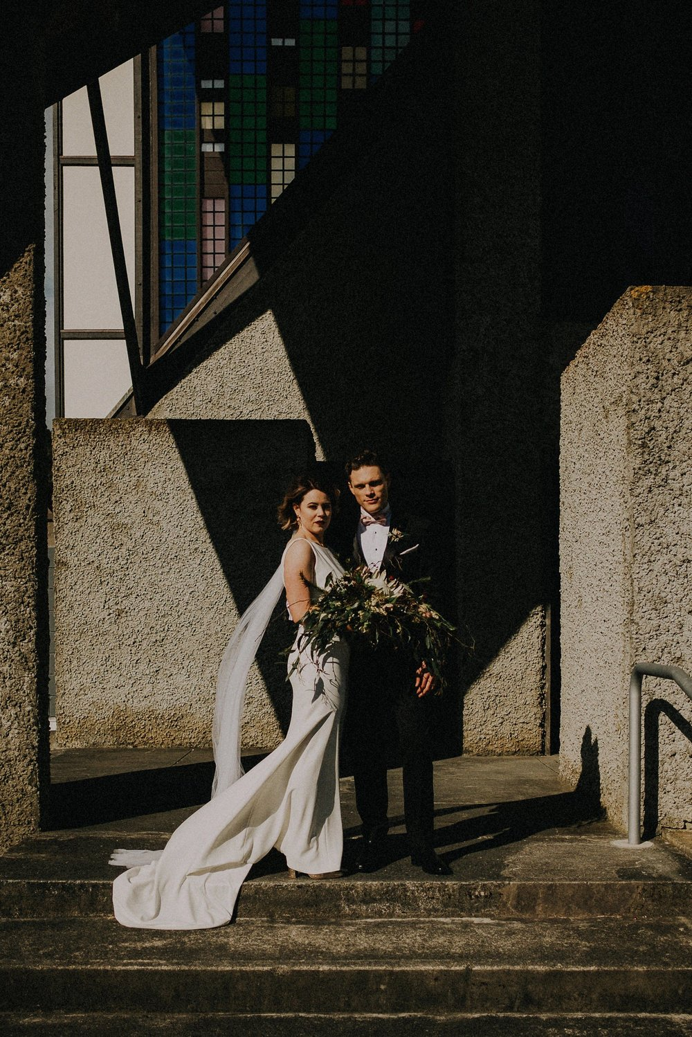 Wellington Wedding at Morning Golf Course Community Hall, and at Futuna Chapel. Black and gold theme and modern.