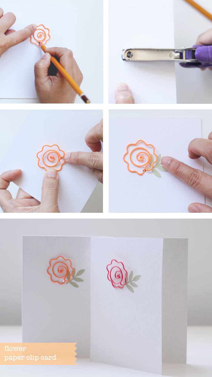 flower paper clip cards - BITA
