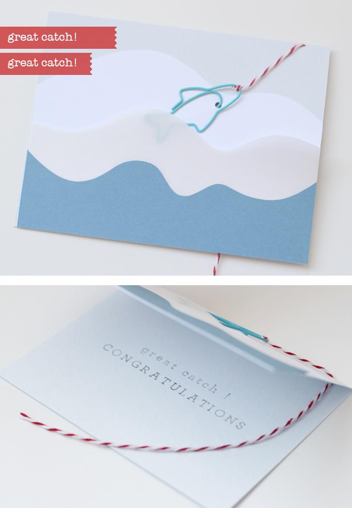 great catch paper clip card by BITA