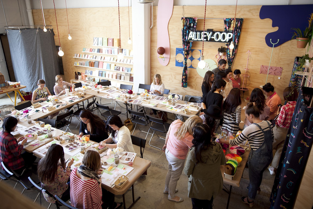 workshop at poketo flagship in dtla arts district