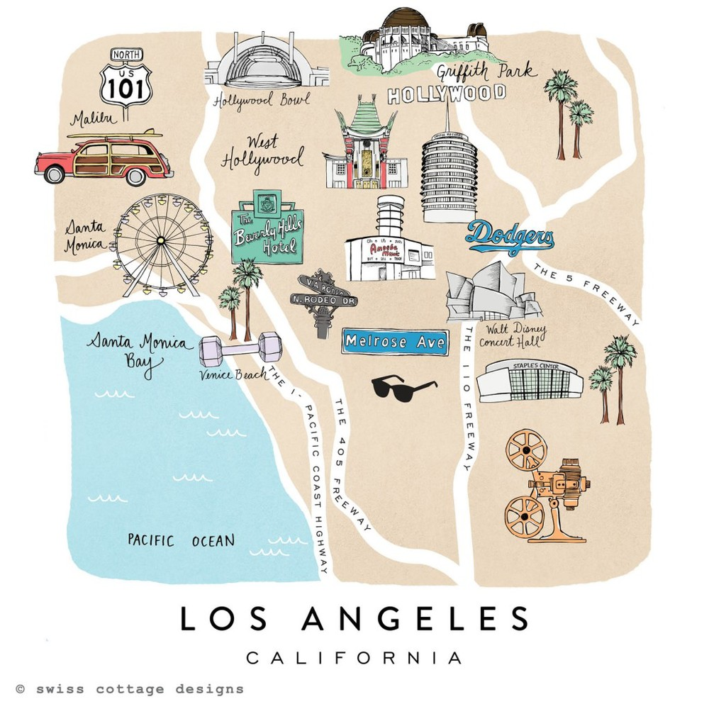 Illustrated Maps   by   Swiss Cottage Designs