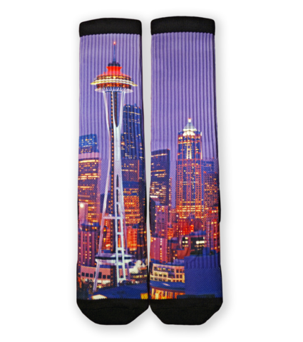 Seattle Skyline Socks