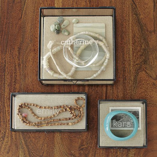 Personalized Glass Jewelry from West Elm