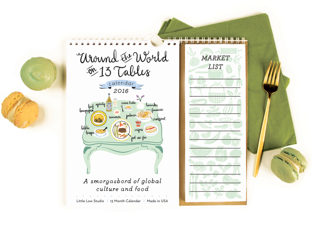 Little Low Around the World on 13 Tables Calendar & Note Pad