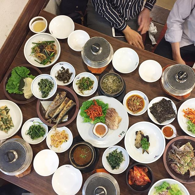 This was the beginning of Family and Seoul food marathon. #loveeverymoment #bitatravels #hanjungsik