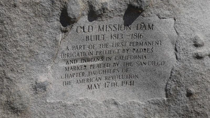 sign at dam