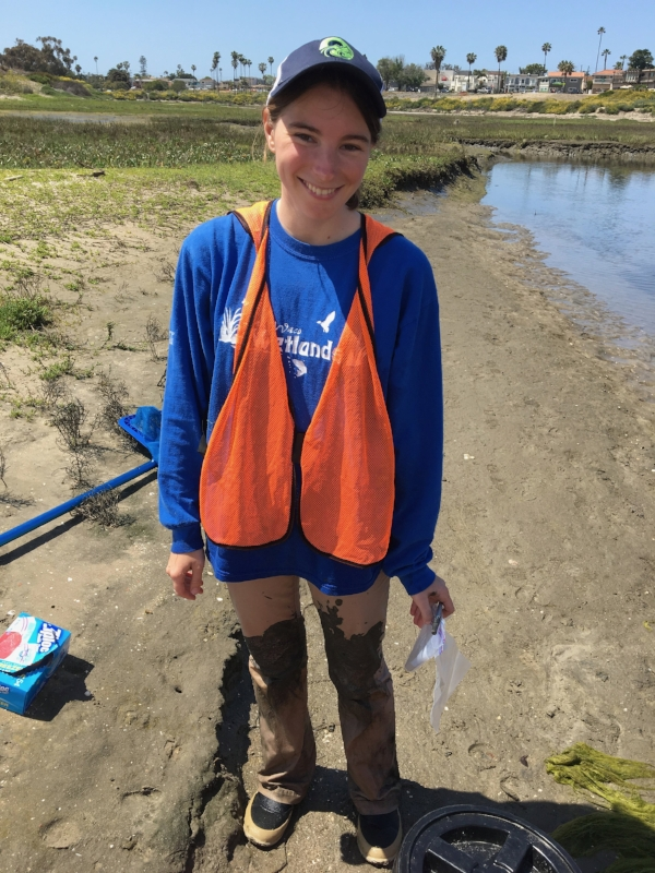 Katie Blaha-Robinson - Katie is a 2nd year graduate student studying salt marsh habitats through the exciting life history of the California Killifish. She uses gut content and stable isotope analysis to examine differences in diet between a natural and created marsh.