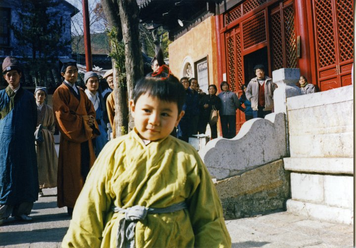 Alice age 5, on set somewhere in China.