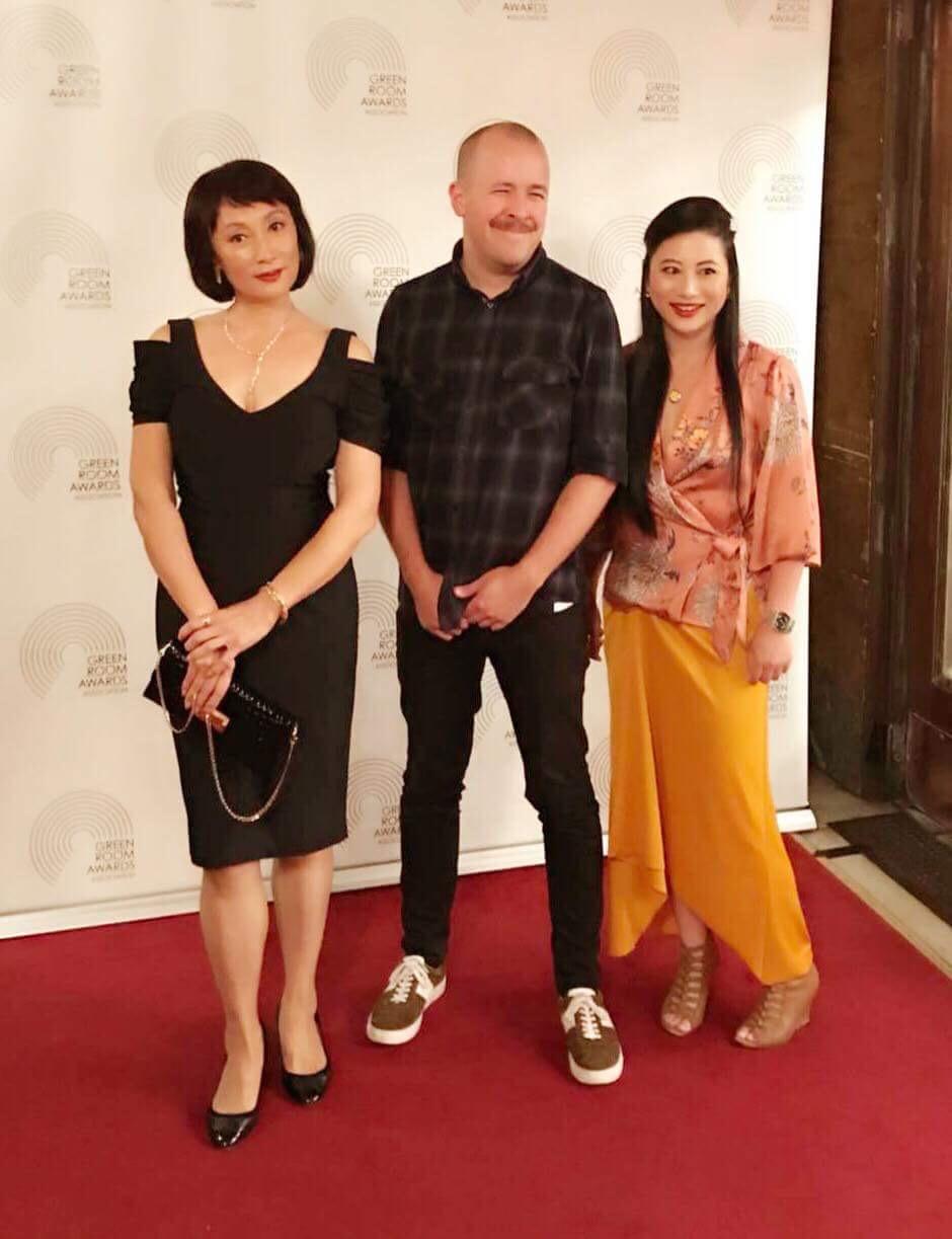 L-R: Diana Lin, Mark Pritchard, Alice Qin