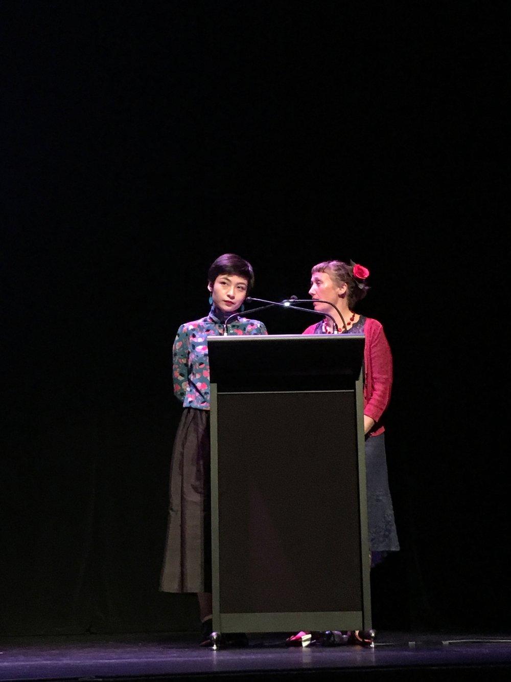 Felix Ching Ching Ho presenting