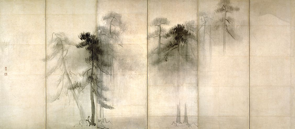 Pine Trees (left panel) Hasegawa Tōhaku