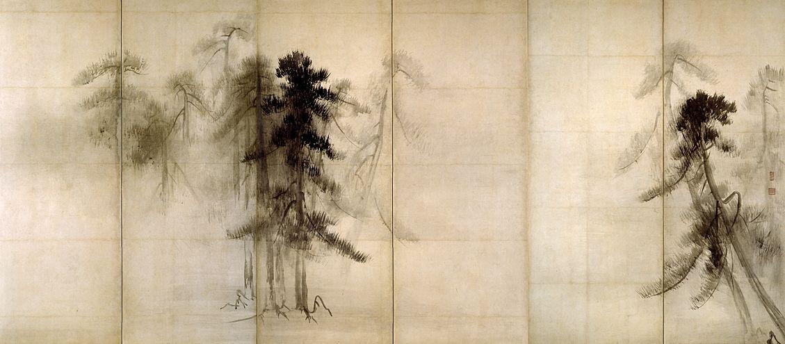 Pine Trees (Right panel) Hasegawa Tohaku