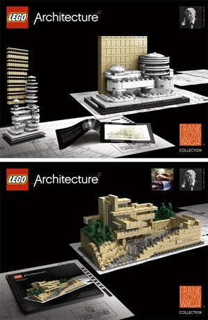 I am already lusting after the new Lego Architecture range. First release: Frank Lloyd Wright. How utterly, wonderfully cool.