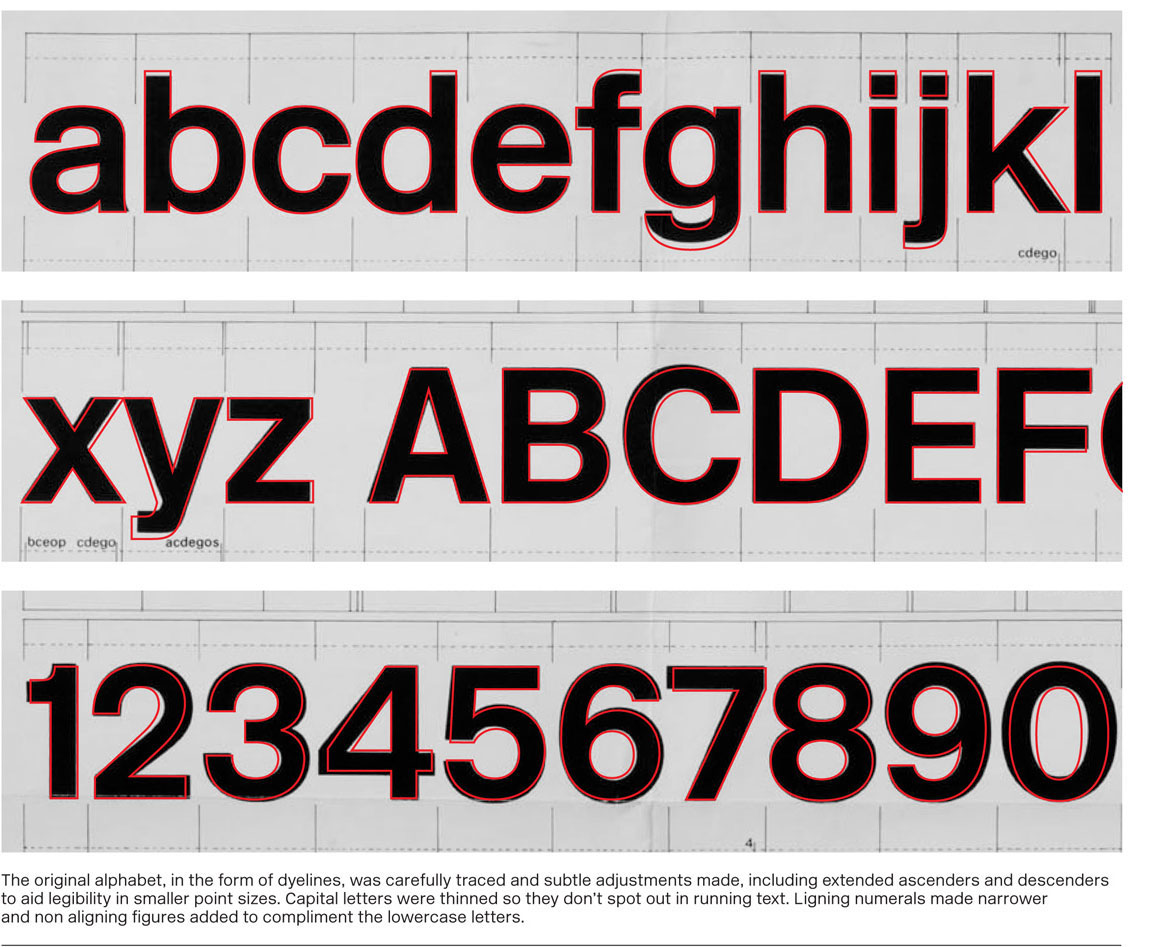Typography for pedestrians: the New Rail Alphabet prevalent on British Rail system from the 60s onwards, designed by Margaret Calvert.