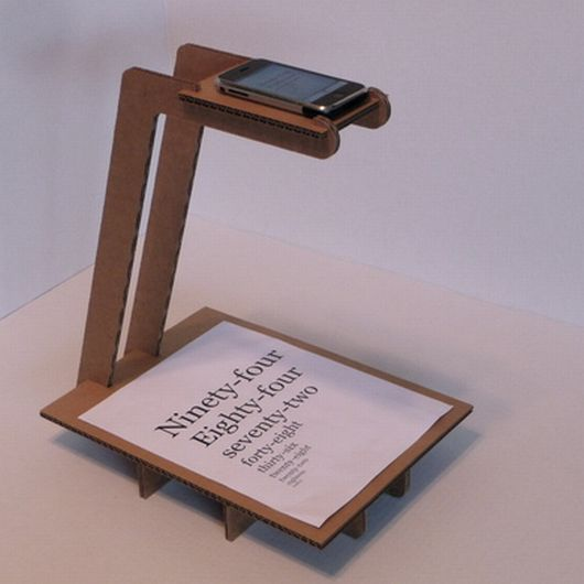 iPhone rostrum camera   - DIY with corrugated cardboard.