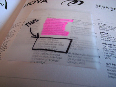 Transparent post it notes .  *Genius*. Why didn't 3M think of that? (via  slantback  &  Noisy Decent Graphics  )