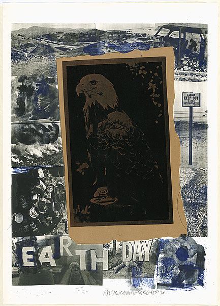 Earth Day 1970 - Robert Rauschenberg All hail Robert Rauschenberg, the godfather of the Photoshop age. If there are any eccentric millionaires passing by can they please buy me an original work? Thanks.