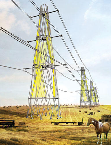 Building wind turbines into pylons - Three young French designers hatch an ingenious plan to use existing infrastructure to create clean energy.