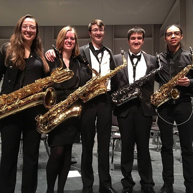 Our symphonic band saxophones helped put on a great concert tonight! Great job you guys! 🎷😁