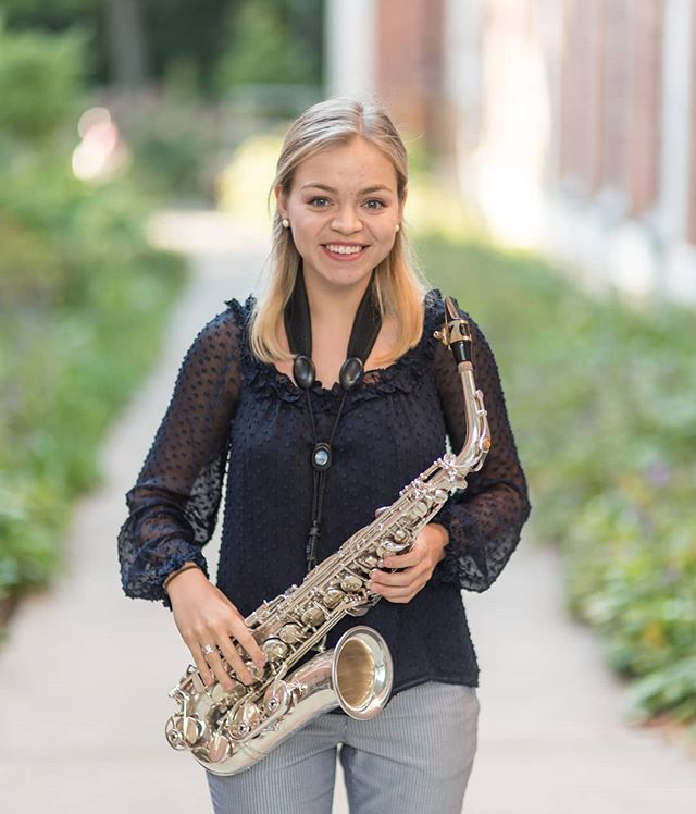 "For today's ""Studio Spotlight,"" we are wishing Clare Tunney a very happy birthday!!🎈 Clare is a senior music education major from Pittsburgh, PA. She is in many ensembles here at Penn State, including Symphonic wind Ensemble, Centre Dimensions, Vocal Jazz, and the Saxophone Ensemble. She is also in a variety of clubs, including Encore Benefiting THON(she was a dancer for them in THON 2018!!), the Jazz Educators Club, PCMEA, and PSSA. Her hobbies include working out/going to the gym, musical theater, drawing, and spending time with friends and family. A fun fact about Clare is that her black lab's name is Kiara, which means ""Clare"" in Italian and ""little black one"" in Gaelic! (📸:@tomsnyderphoto)  She will be having her senior recital on Saturday, November 3rd at 4PM in the new recital hall! We hope to see everyone there!"
