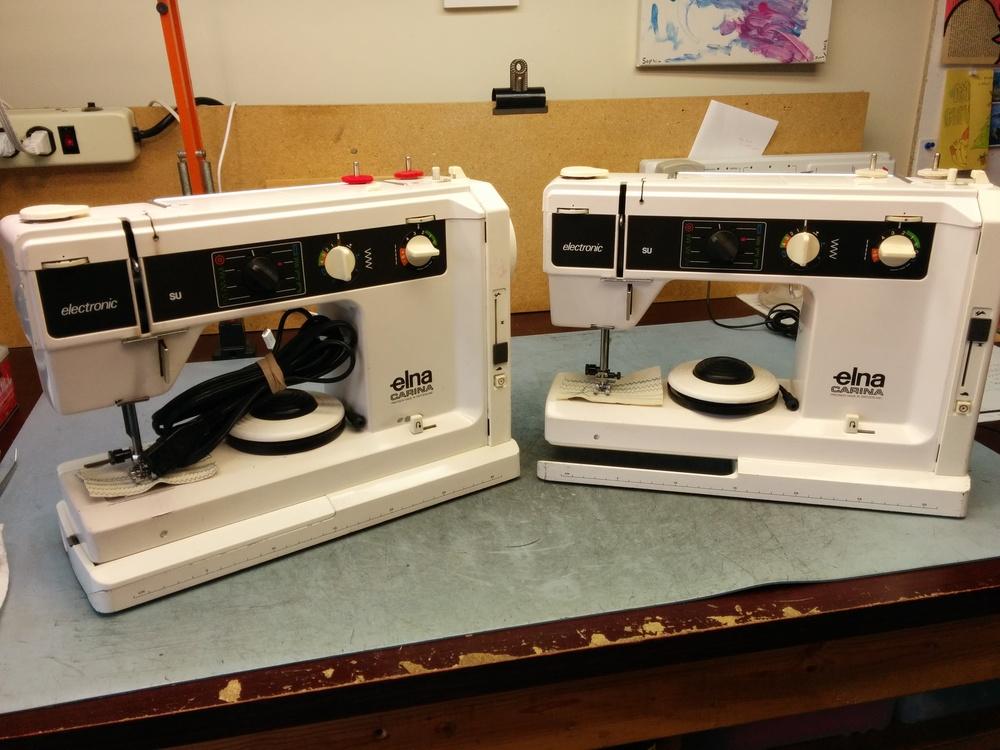 A Pair Of Elna Carina Sewing Machines Sewing Machine Service By Wayne Adorable Elna Carina Sewing Machine