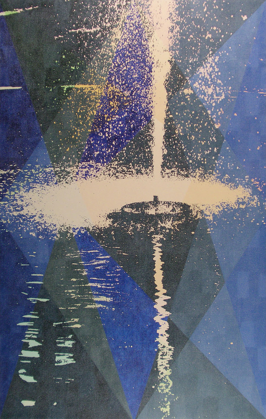 Static Image Painting/ Blue/ Fountain/ Moose Jaw
