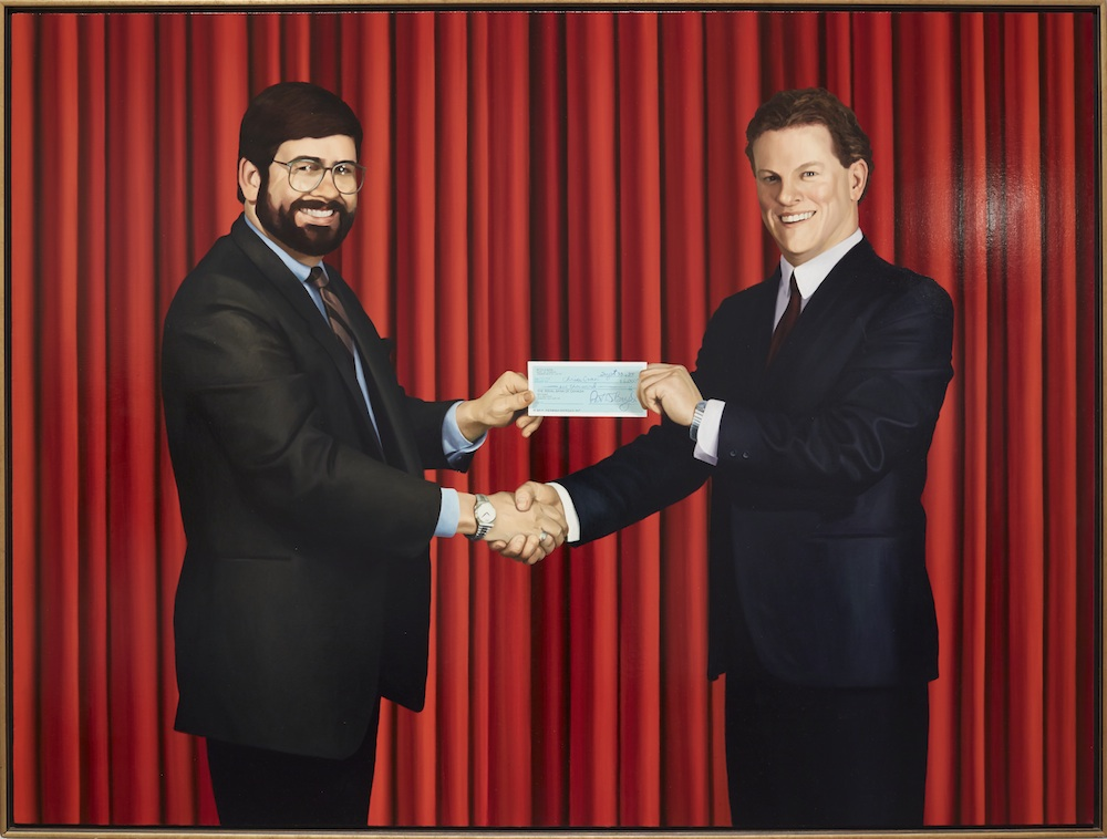 Chris Cran, Self-Portrait Accepting a Cheque for the Commission of This Painting, 1988. University of Lethbridge Art Collection. Gift of Peter D. Boyd, 1995. Photo M.N. Hutchinson. Organized by the National Gallery of Canada and the Art Gallery of Alberta as part of the NGC@AGA exhibition series, with the generous collaboration of the Southern Alberta Art Gallery.