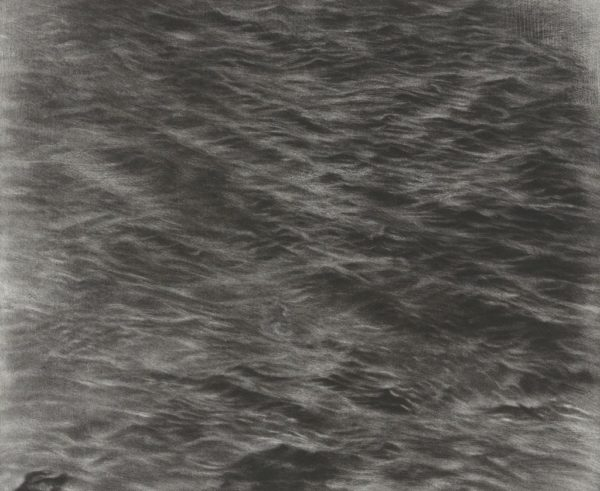 Untitled Ocean, 2016, Mezzotint on Hahnemühle copperplate bright white paper in artist's frame, 21 3/8 x 19 inches, ©Vija Celmins, Courtesy Matthew Marks Gallery