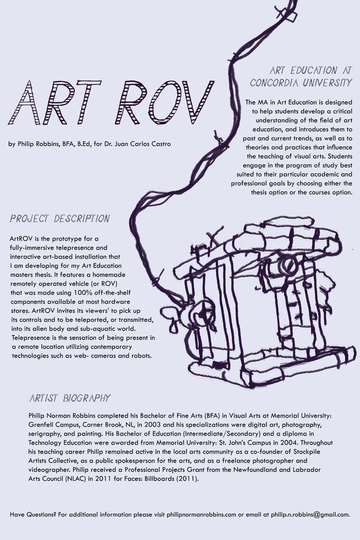 2012, ArtROV Poster