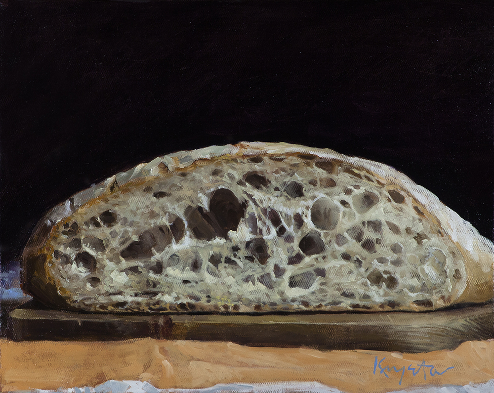 Free Bread.  Oil on canvas 20 x 16