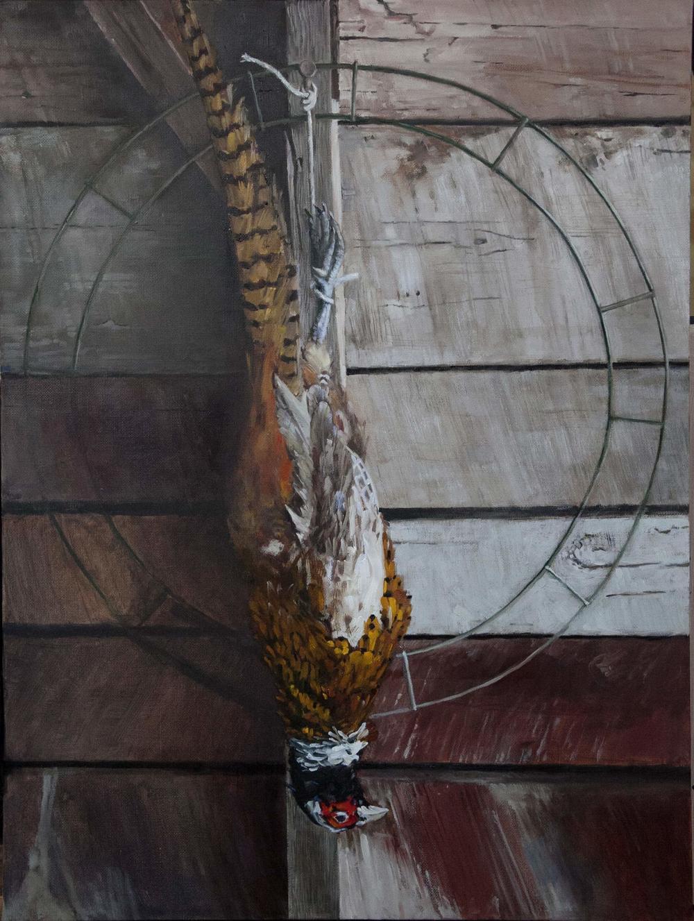Barn Clock 18 x 24 Oil on Linen