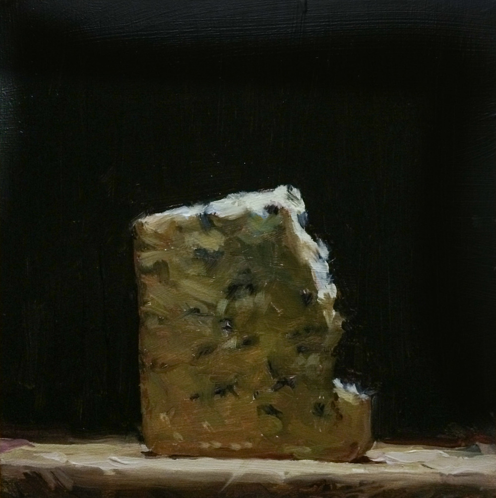 Stilton 6 x6 oil on panel
