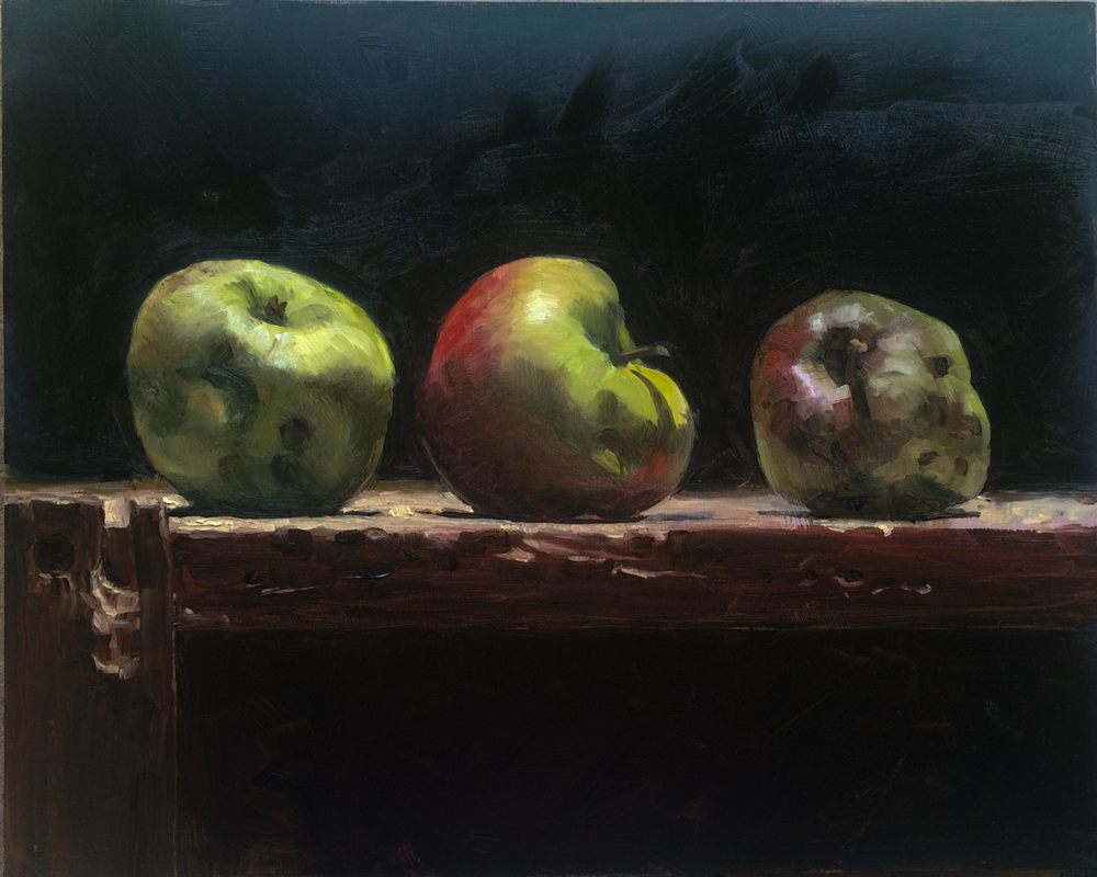 Yanni's Little Apple 10 x 8 oil on panel