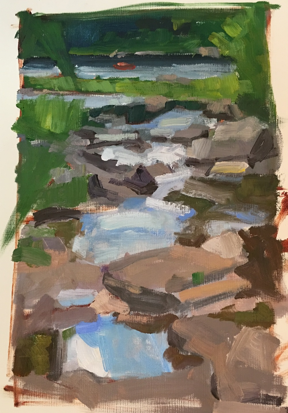 Ten Mile confluence with the Delaware Plein Air