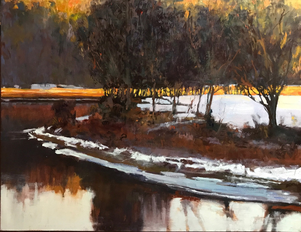 North of Skinner's Milanville PA 20 x 26 oil on linen