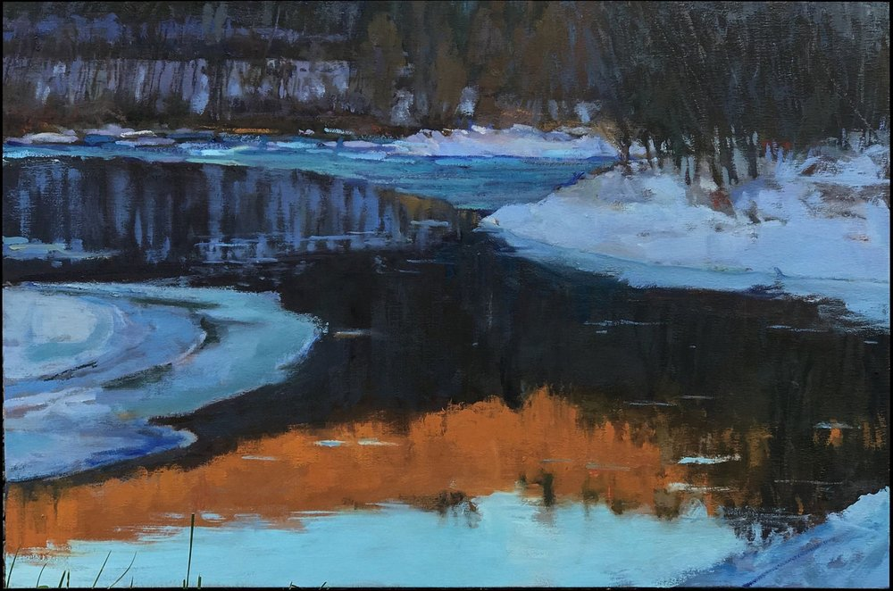 Skinners in Winter  20 x 20 oil on linen