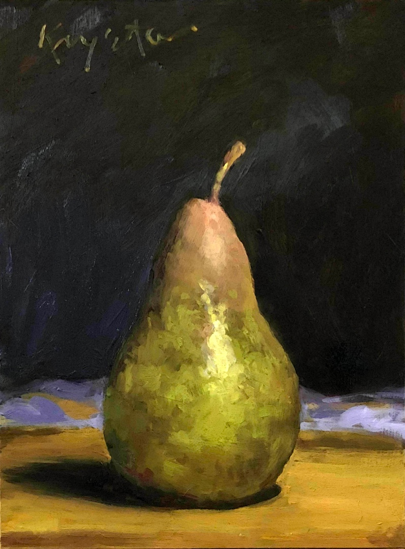 Another Pear 8 x 6 oil on panel 2018