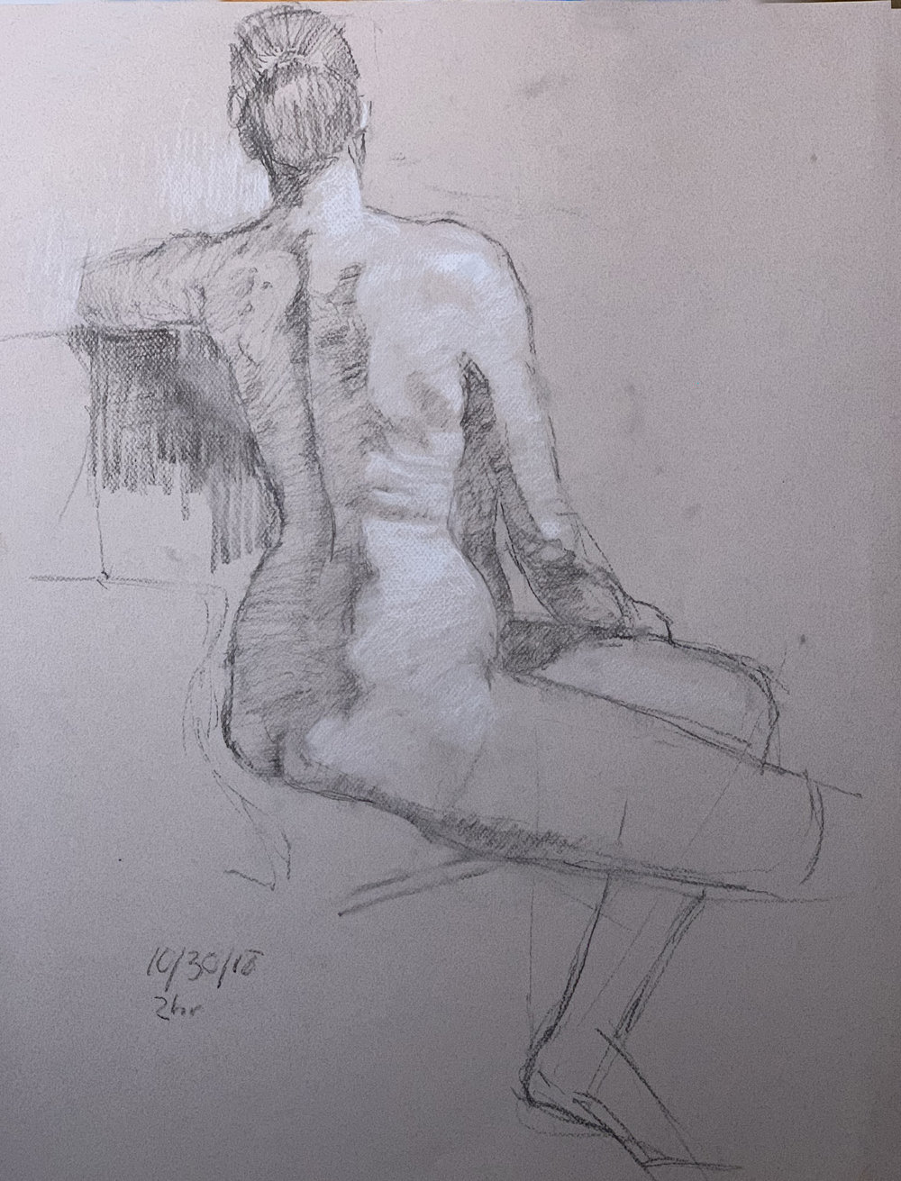 Catherine charcoal and pastel on Canson paper 10/30/18