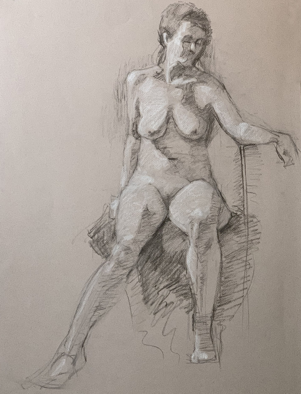 Catherine charcoal on canton paper 11/18