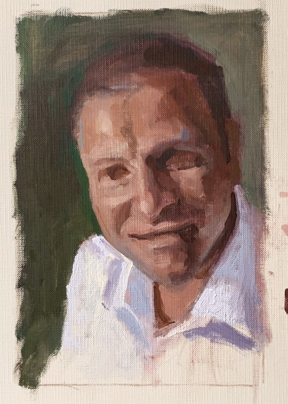 sketch 9 x 6 on Strathmore oil paper