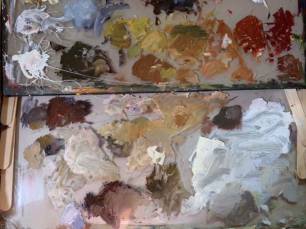 Palette at the end showing tertiary neutrals and mixes