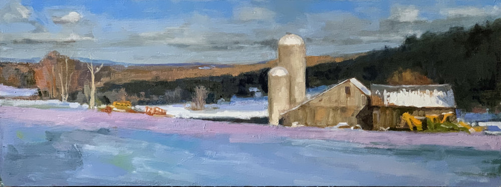 From here to the Catskills 9 x 24 oil on linen board 2018