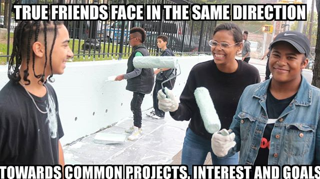 Members of MWam came to unity park in the Bronx to help repaint #musicwam #communityleaders