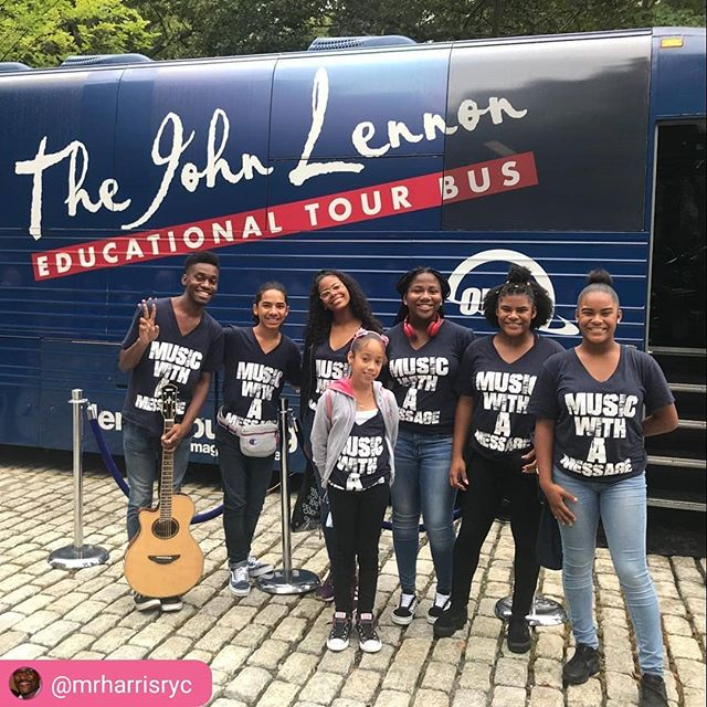@mrharrisryc @johnlennonofficial Can't get enough of the #johnlennontourbus #music #guitar #musiceducation #musiceducator #nyc